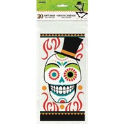 Halloween Day of the Dead Cello Gift Loot Bags Pk 20