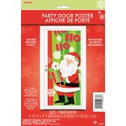 Christmas Happy Santa Party Door Poster (1.52m x 68.5cm) Pk 1