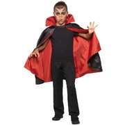 Child Halloween Costume Cape (Reversible Red & Black) Pk 1 (CAPE ONLY)