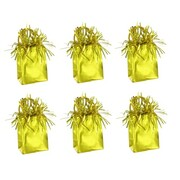 Gold Giftbag Balloon Weight Pk 6