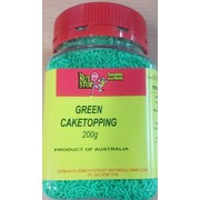 Green Cake Topping Sprinkles 200g