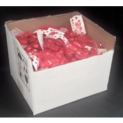 Valentine's Day Red Foil Covered Chocolate Hearts (50 Bags of 10)