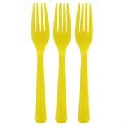 Yellow Party Forks Pk25