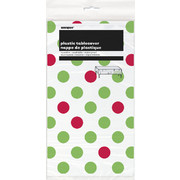 Christmas Dots Red & Green Tablecover (1.37 x 2.74m) Pk 1