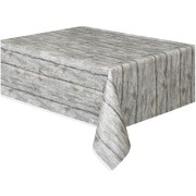 Rustic Wood Tablecover (1.37 x 2.74m) Pk1