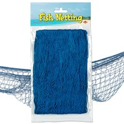 Blue Fish Netting Decoration Pk 1