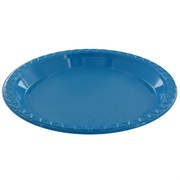 Electric Blue Plastic Plates - Small 17cm Pk25