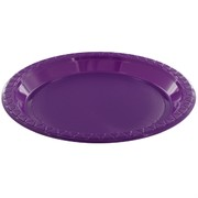Purple Plastic Plates - Small 17cm Pk25