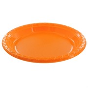Orange Plastic Plates - Large 23cm Pk25