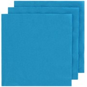 Electric Blue Party Napkins - Lunch 2 ply Pk50