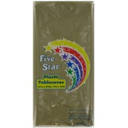 Gold Rectangular Party Tablecover Pk1
