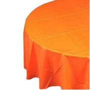 Orange Round Party Tablecover - 213cm Pk1
