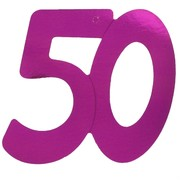 Cutout Large Foil 50 Hot Pink Pk1
