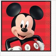 Mickey Mouse 2 Ply Lunch Napkins Pk 16
