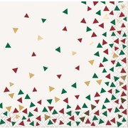 Christmas Chic Geometric 2 Ply Cocktail Napkins Pk 16