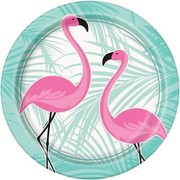 Flamingo 9in. Paper Plates Pk 8