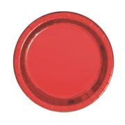 Red Foil 7in. Paper Plates Pk 8
