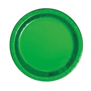 Green Foil 9in. Paper Plates Pk 8