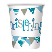 Blue Christening Boy 9oz. Paper Cups Pk 8