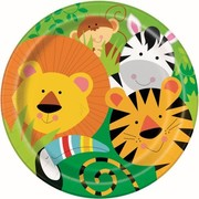 Animal Jungle Party 9in. Paper Plates Pk 8