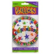 Balloon Foil 18in Congratulations Pk1