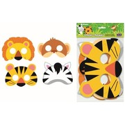 Assorted Animal Jungle Party Favour Masks Pk 8