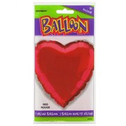 Balloon Foil 18in Red Heart Pk1