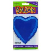 Balloon Foil 18in Royal Blue Heart Pk1