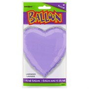 Balloon Foil 18in Lavender Heart Pk1