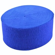 Jumbo French Royal Blue Crepe Paper Streamer - 30m Pk1