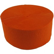 Jumbo Orange Crepe Paper Streamer 30m Pk1