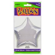Balloon Foil 20in Silver Star Pk1