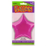 Balloon Foil 20in Hot Pink Star Pk1