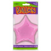 Balloon Foil 20in Light Pink Star Pk1