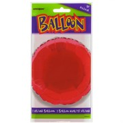 Balloon Foil 18in Red Circle Pk1