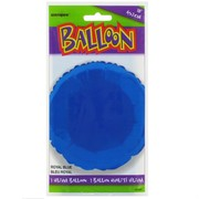 Balloon Foil 18in Royal Blue Circle Pk1