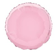 18in Pastel Pink Circle Foil Balloon Pk 1