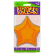 Balloon Foil 20in Orange Star Pk1