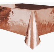 Rose Gold Foil Plastic Tablecover (1.37m x 2.74m) Pk 1