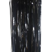 Metallic Black Foil Tinsel Curtain (90cm x 200cm) Pk 1