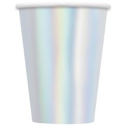 Metallic Iridescent Foil 12oz. Paper Cups Pk 8