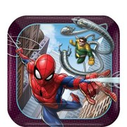 Spiderman 7in. Square Paper Plates Pk 8