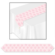 It's A Girl Pink Paper Table Runner (1.83m) Pk 1