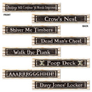 Assorted Pirate Sign Cutouts (61cm x 10cm) Pk 4