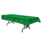 Hawaiian Luau Palm Leaf Plastic Tablecover (137cm x 274cm) Pk 1