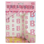 Pink Glitz Hanging Party Decoration - 13 Pk6