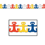Multi Coloured Paper Anchor Garland (3.7m) Pk 1