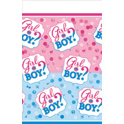 Gender Reveal Girl or Boy Plastic Tablecover (1.37 x 2.59m) Pk 1