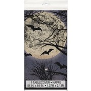 Spooky Night Halloween Plastic Tablecover (1.37m x 2.13m) Pk 1