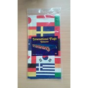 International Flag Border Print Tablecover (137cmx274cm) Pk 1